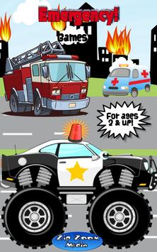 Police Car and Firetruck Games poster