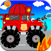 Fire Trucks Games For Kids icon