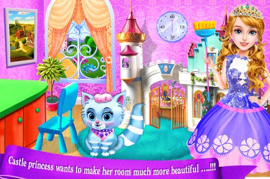 Castle Princess Palace Room Cleanup-Girls Games poster