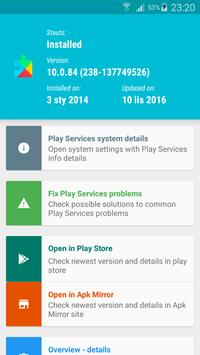 Fix & Info for Play Services poster