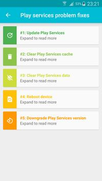 Fix & Info for Play Services screenshot 1