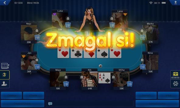 Poker Slovenija apk screenshot