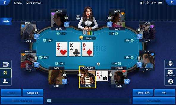 Poker Sverige HD apk screenshot