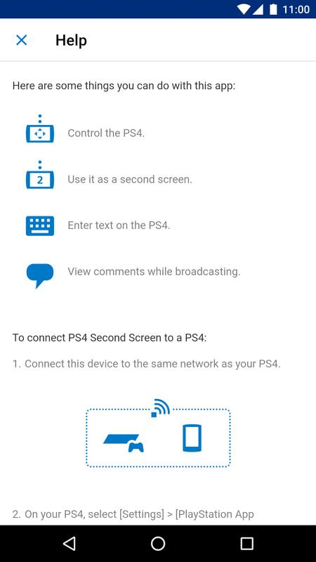 how to use second screen ps4