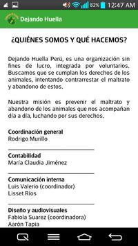 Dejando Huella Peru apk screenshot
