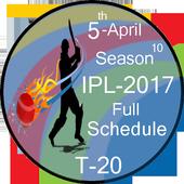 2017 IPL Schedule Full icon
