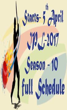 2017 IPL Schedule Full poster