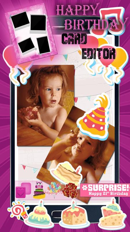 Happy Birthday Cards Maker Poster
