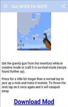 Gun MODS For MCPE.+ apk screenshot