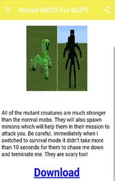 Mutant MODS For MCPE.+ apk screenshot