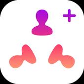 AddPlus Followers with Kaleidoscope Photos icono