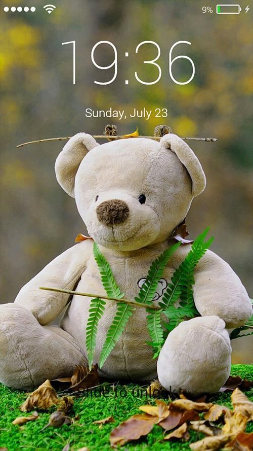 Teddy Bear Lock Screen Wallpaper Fur Android Apk Herunterladen