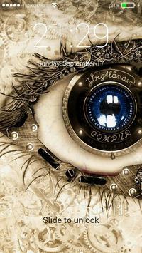 Eye Lock Screen Background poster