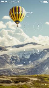 Hot Air Balon Lock Screen HD poster