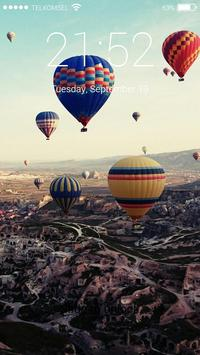 Hot Air Balon Lock Screen HD screenshot 3