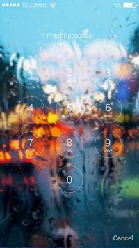 Raindrops Lock Screen poster