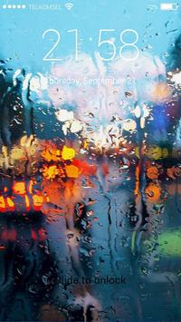 Raindrops Lock Screen screenshot 1