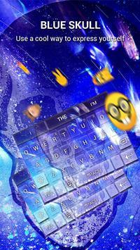 Blue Skull Keybaord Theme apk screenshot