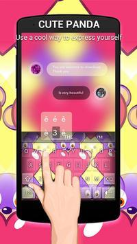 Cute Panda Keybaord Theme poster