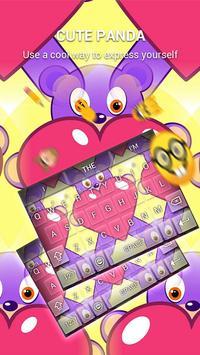 Cute Panda Keybaord Theme apk screenshot