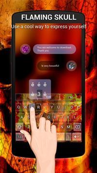 Flaming Skull Keybaord Theme poster