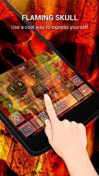 Flaming Skull Keybaord Theme apk screenshot
