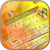Gold Butterfly Keybaord Theme icon