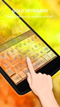 Gold Butterfly Keybaord Theme apk screenshot
