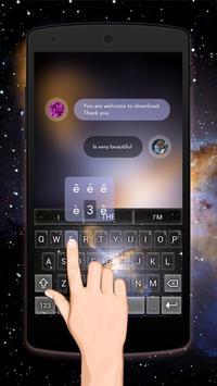 Neon Galaxy Keybaord Theme poster