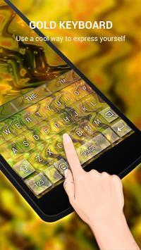 Neon Gold Keybaord Theme apk screenshot