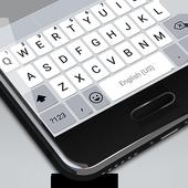 White Emoji Keyboard Theme - Pearl White & Emoji icon