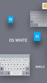 White Emoji Keyboard Theme - Pearl White & Emoji poster