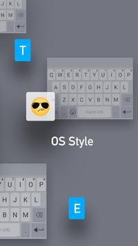 White Emoji Keyboard Theme - Pearl White & Emoji screenshot 2