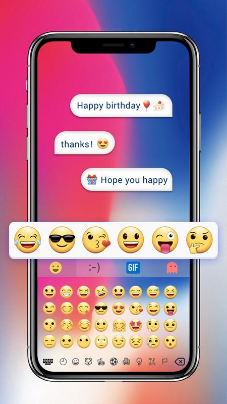 Phone X Emoji Keyboard Poster Screenshot 1
