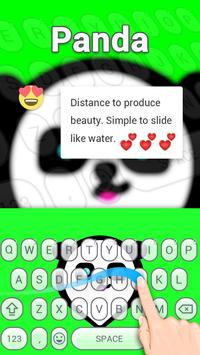 Punk Panda Keybaord Theme - Panda app screenshot 1