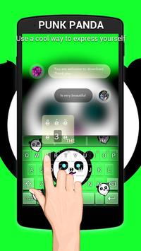 Punk Panda Keybaord Theme - Panda app screenshot 3