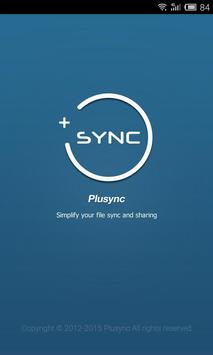 Plusync: File Sync and Sharing poster