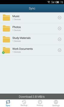 Plusync: File Sync and Sharing apk screenshot