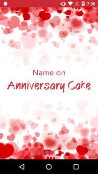 Name on Anniversary Cake poster