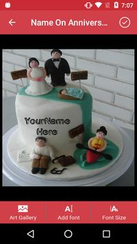 Name on Anniversary Cake apk screenshot