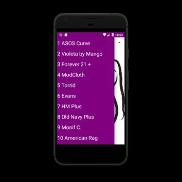 Curvy women Shopping screenshot 1
