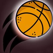 Dunk hit black - dunk shot basketball icon