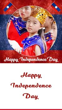 Laos Independence Day Frames poster