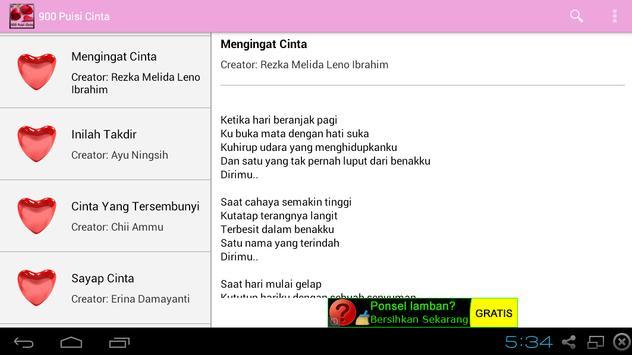 900 Puisi Cinta apk screenshot