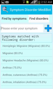 Symptom Disorder:MediBot screenshot 3