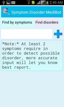Symptom Disorder:MediBot screenshot 1