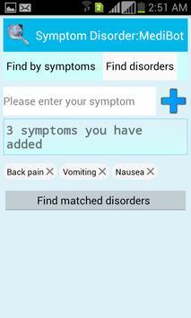 Symptom Disorder:MediBot screenshot 2