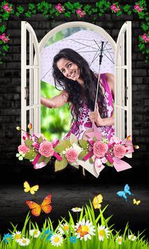 Photo in Flower Frames poster
