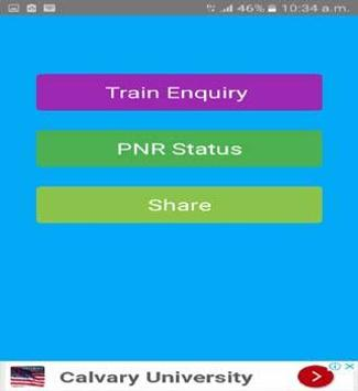 Indian Railway PNR status & rail inquiry poster