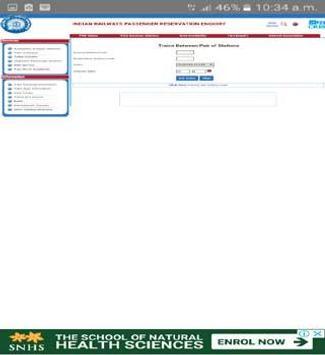 Indian Railway PNR status & rail inquiry screenshot 1
